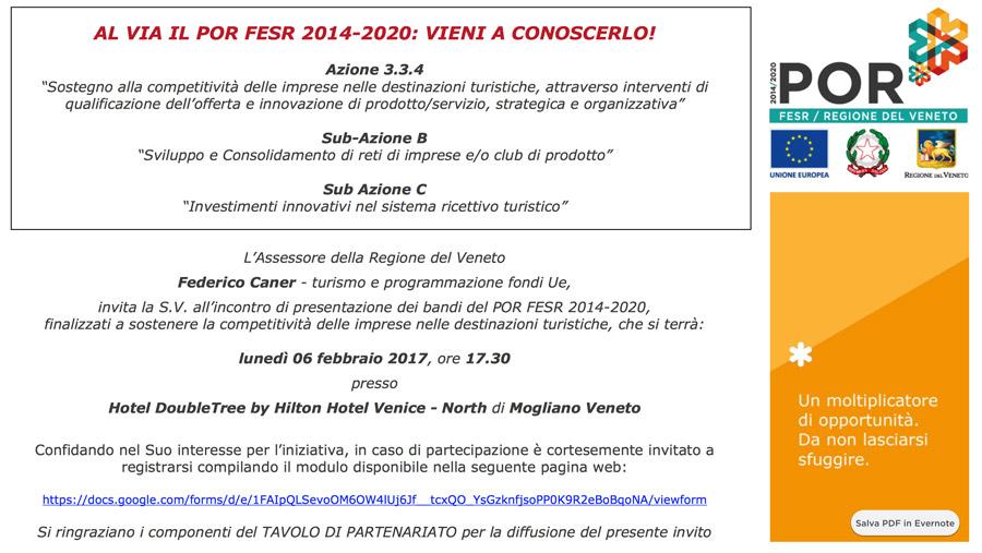 nuovi bandi per il turismo all'interno del POR FSER 2014-2020