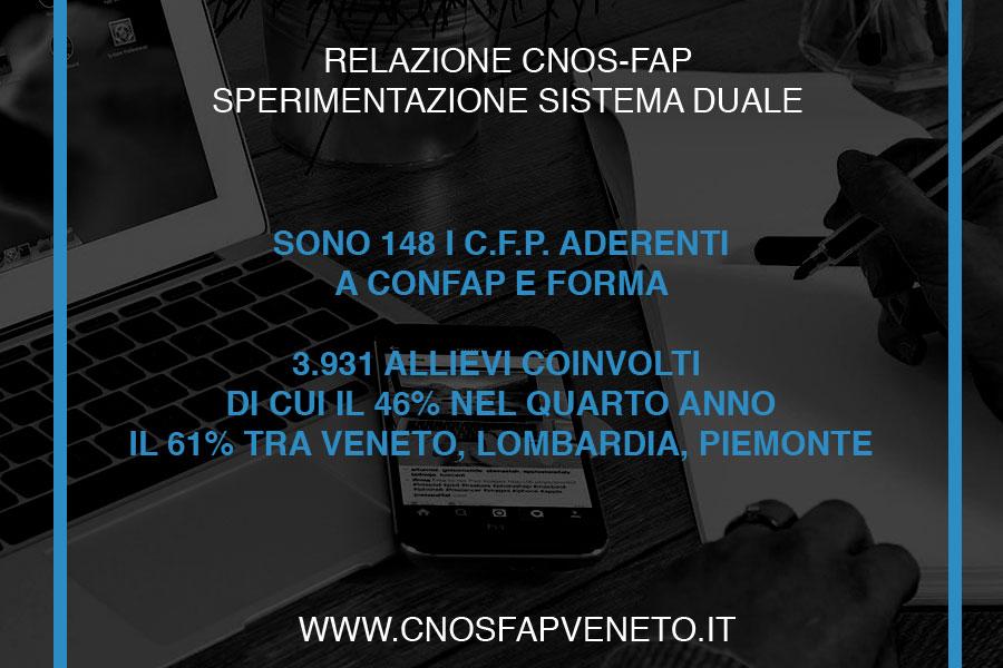 CNOSFAP veneto sistema duale 3931 allievi coinvolti