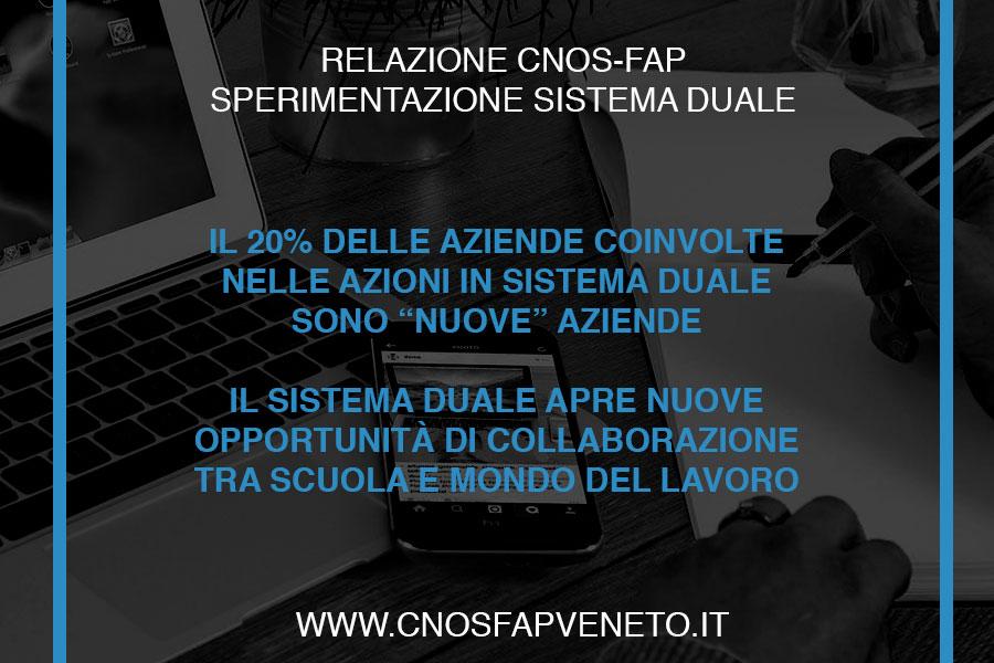CNOSFAP veneto sistema duale agevola nuove collaborazioni scuola mondo del lavoro
