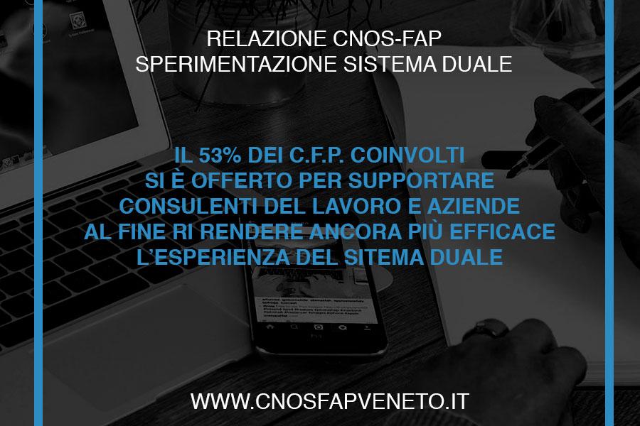 CNOSFAP veneto sistema duale necessario snellire burocrazia