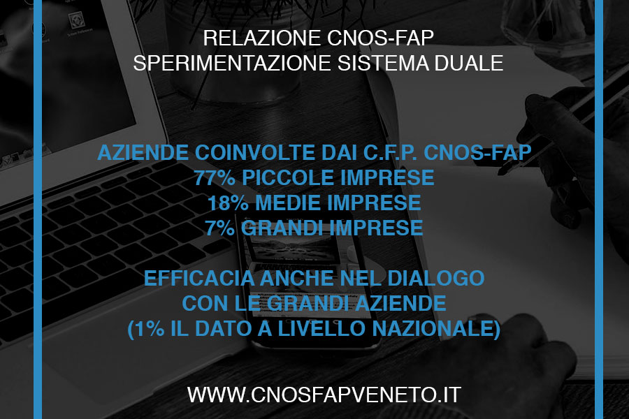 CNOSFAP veneto sistema duale efficacia dialogo con grandi aziende