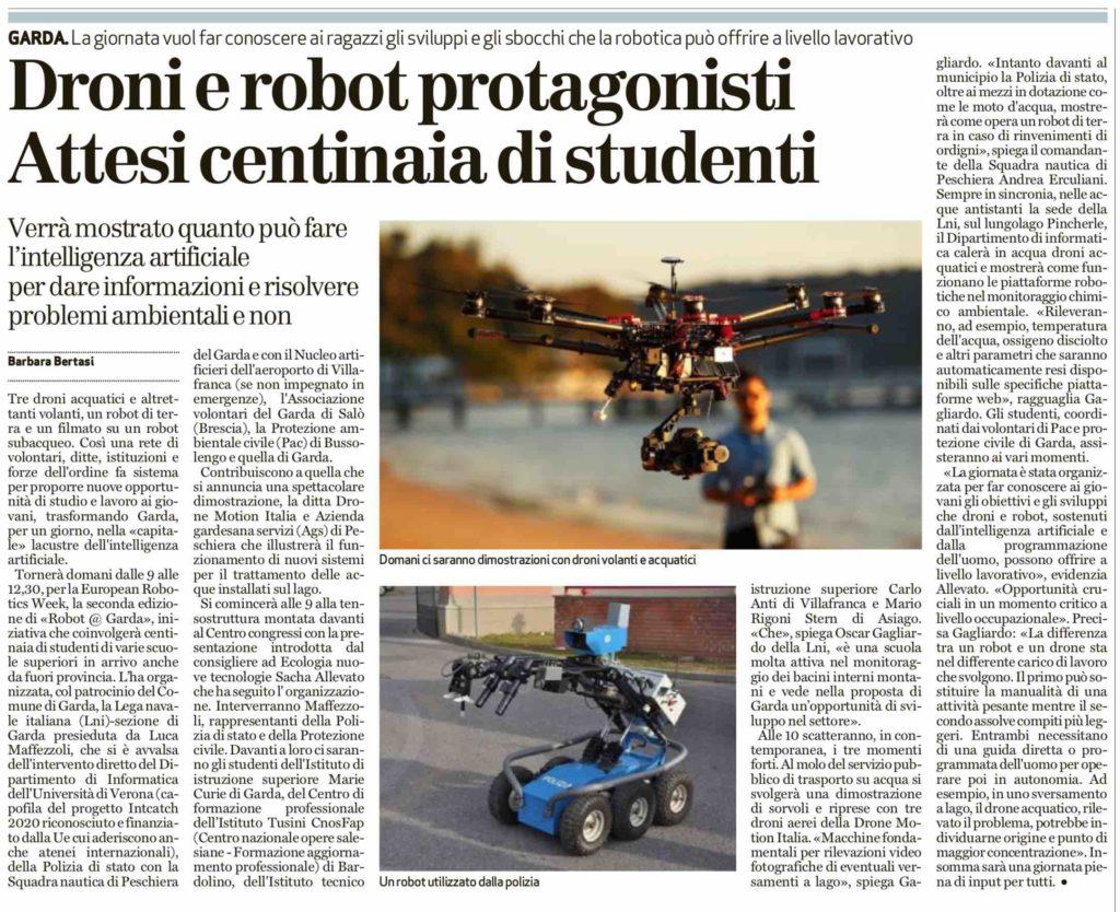 Allievi della Scuola Formazione Professionale Tusini coinvolti nella giornata IA
