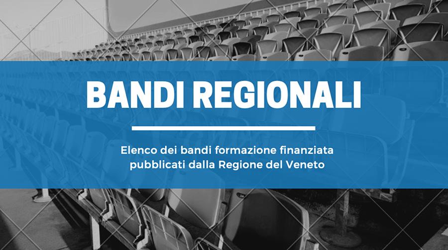 CNOSFAP veneto elenco bandi regionali attività finanziata regione del veneto