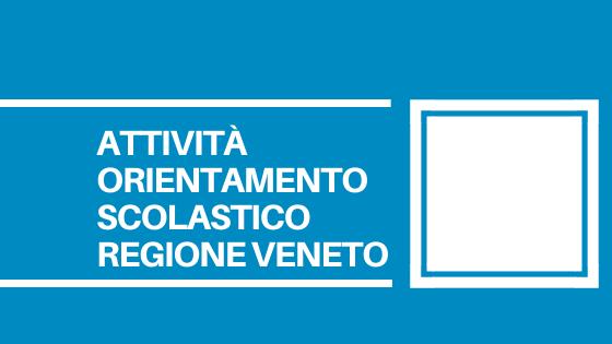 La Regione del Veneto aiuterà studenti e famiglie nella scelta del loro futuro professionale, attraverso 7 incontri dal 15 gennaio al 27 gennaio.