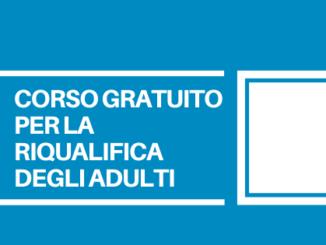 Corso gratuito per adulti per il conseguimento di una qualifica professionale. Termini per la presentazione delle domande 9 novembre 2020.