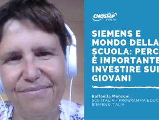 Abbiamo intervisato Raffaella Menconi, SCE Italia - Programma Education Siemens Italia. Abbiamo parlato di Scuola e mondo del lavoro.