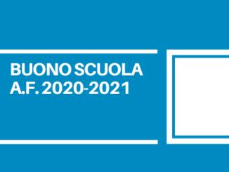 Dal 18/05/2021 al 28/06/2021 è aperta la procedura per presentare le domande per l'ottenimento del buono scuola a.f. 2020-2021.